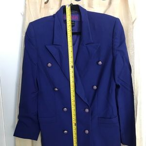 Navy blue suite jacket and skirt